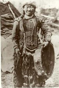 Shaman Khorolkan of the Kambaghir tribe of the Evenk, first quarter of the nineteenth century (Illinois State Museum)